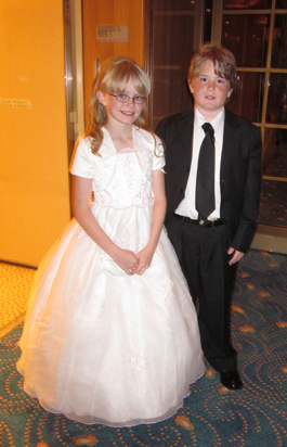 Children the night of Black & White Ball (Cunard)