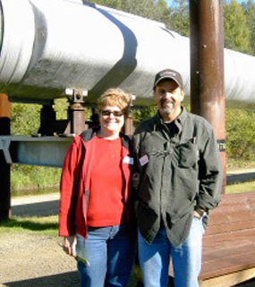 Rose & Steve at Alaskan Pipeline