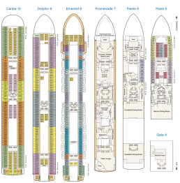 Golden Princess Deck Plan