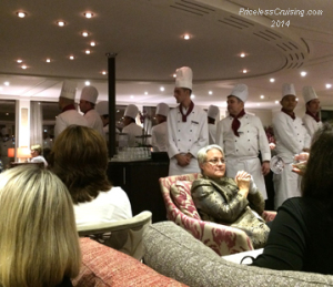 Presentation of Chefs prior to Farewell Dinner
