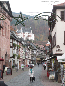 Miltenberg street and castle