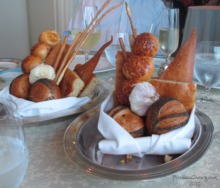 Bread baskets at Toscana