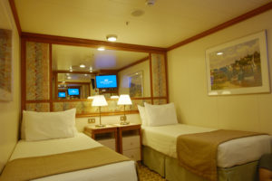Interior Stateroom (twin bed setup)