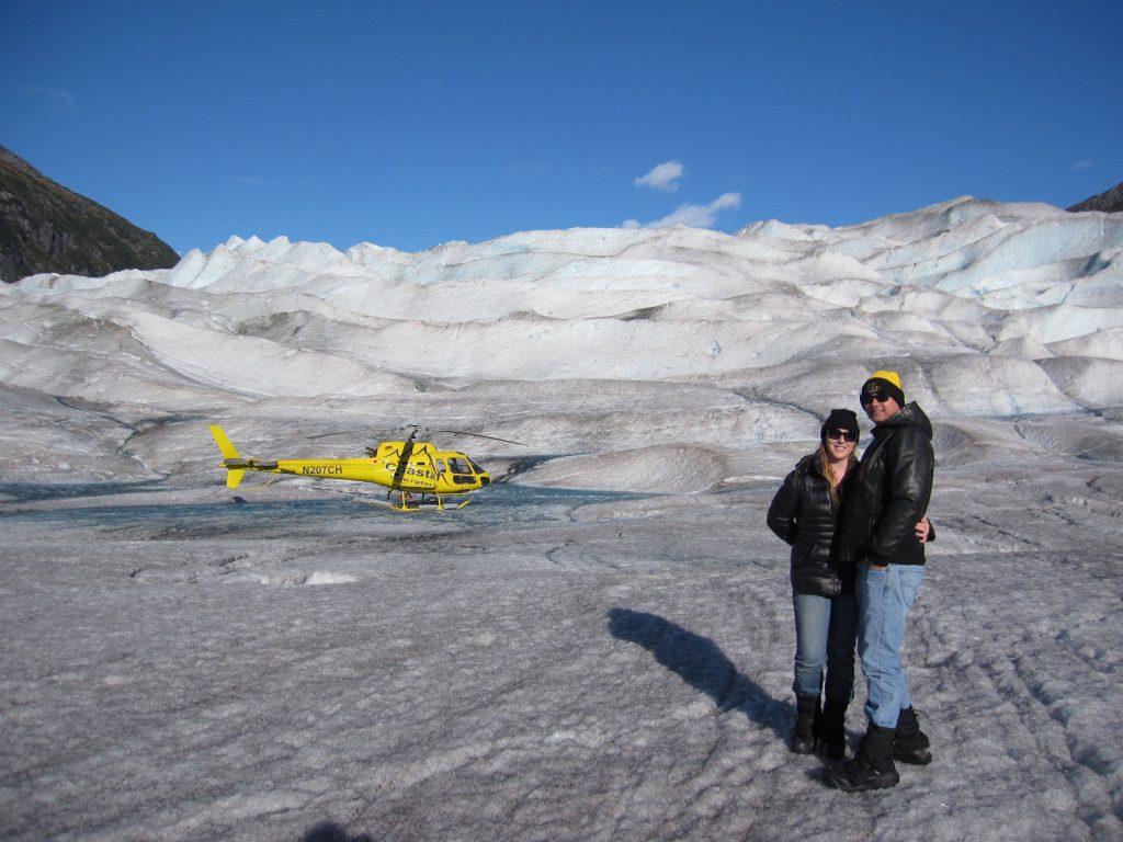 Jenny & Tony on Herbert Glacier